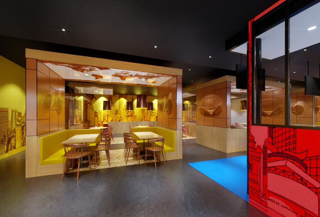 Food court projet d 39 agencement for Cuisine concept